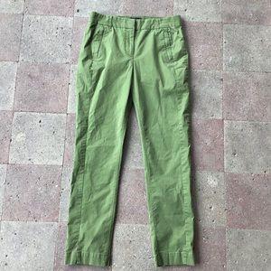 J CREW maddie skinny olive chino pants 4 6 (K4)